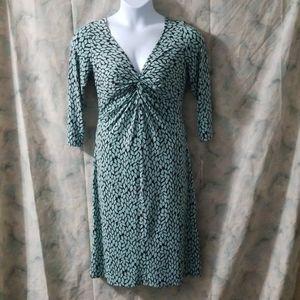 NWT London Time's mint & espresso patterned dress